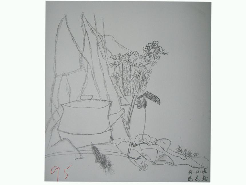 美术绘画作品展示四_盐城市明达中学